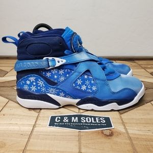 Air Jordan Retro 8 GS Snowflake Blue